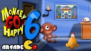 Monkey Go Happy 6 Walkthrough All Levels HD