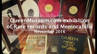 QueenMuseum Exhibition [2016] of rare Queen Records & Memorabilia at MAM, Cosenza 26-27 nov. 2016