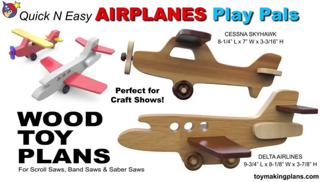 Wood Toy Plans Airplane Play Pals