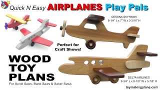 Wood Toy Plans - Airplane Play Pals