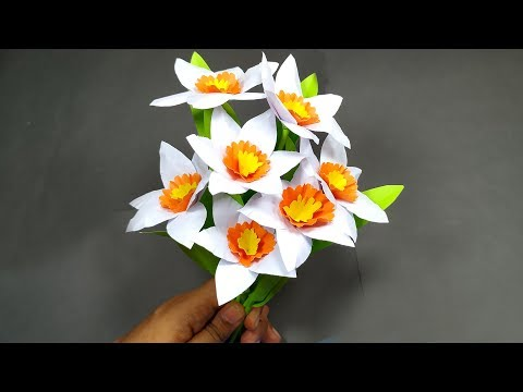 DIY Paper Flower Room Decoration Idea!! Easy Paper Flower Making | Abigail Paper Crafts