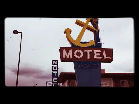 """Vintage """"Anchor"""" motel with neon signs - S. Broadway, Denver"""