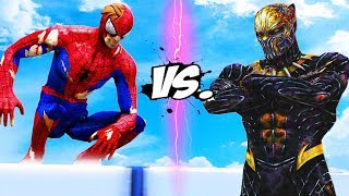 SPIDERMAN VS KILLMONGER (BLACK PANTHER) - EPIC BATTLE