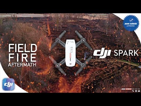 Field Fire Aftermath Drone Footage in Columbia City Indiana / DJI Spark Footage