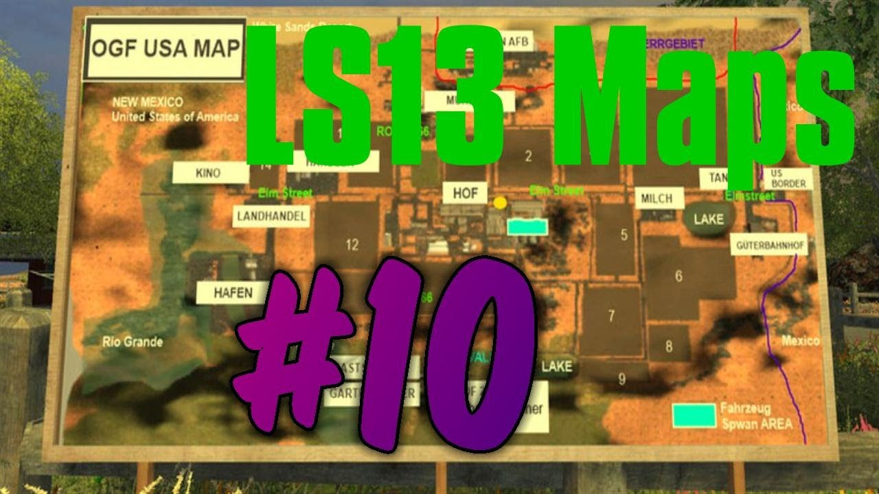 Let`s Show LS13 Maps #10 - USA OGF Map [Deutsch][HD]