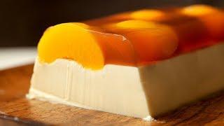 PANNA COTTA & PEACH TEA JELLO - Cách làm PANNA COTTA THẠCH TRÀ ĐÀO
