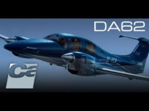 Diamond DA62, by Carenado  VFR: (2O3-KHAF) Northern California