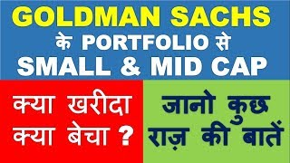 Small Cap & Mid cap stocks from GOLDMAN SACHS Portfolio | Multibagger stocks 2019 India for profit