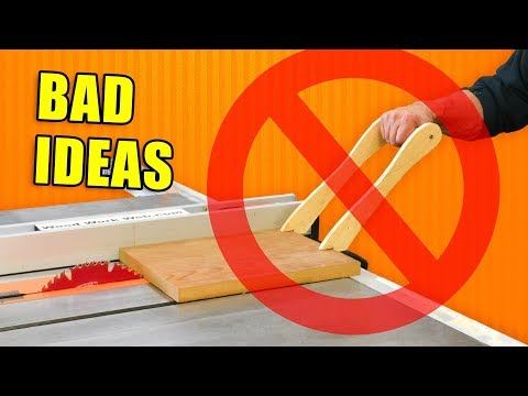 Bad Ideas In Woodworking / Workshop Fails