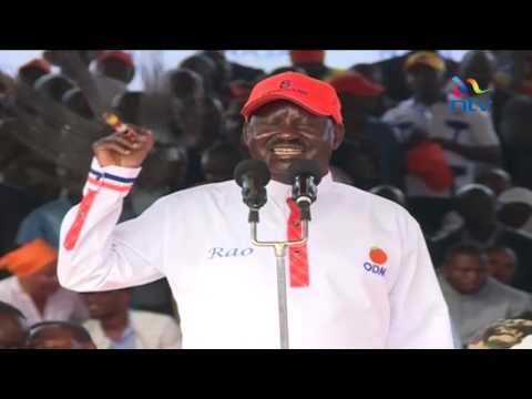 Raila's final campaign address at the Nairobi Uhuru Park Rally