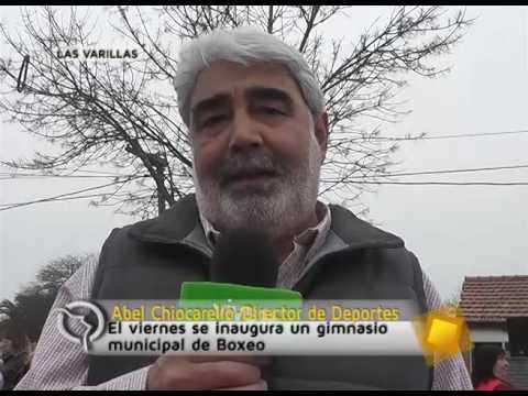 Entrevista a Abel Chiocarello, Director de Deportes, Inauguración del gimnasio municipal de Boxeo