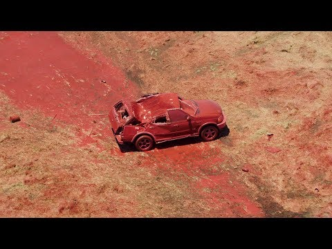 Scotty Davis - California Fire Demonstrates What Fire Retardant Would Do To Your Car