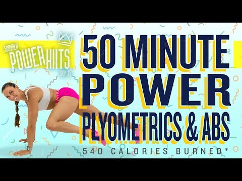 50 Minute Power Plyometrics and Abs Workout 🔥Burn 540 Calories!* 🔥Sydney Cummings