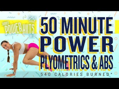 50 Minute Power Plyometrics and Abs Workout ��Burn 540 Calories!* ��Sydney Cummings