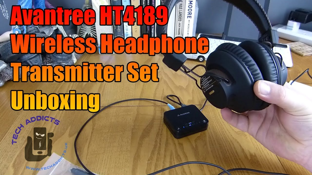 5d845575beb Avantree HT4189 Wireless Headphone Transmitter Set Unboxing - YouTube