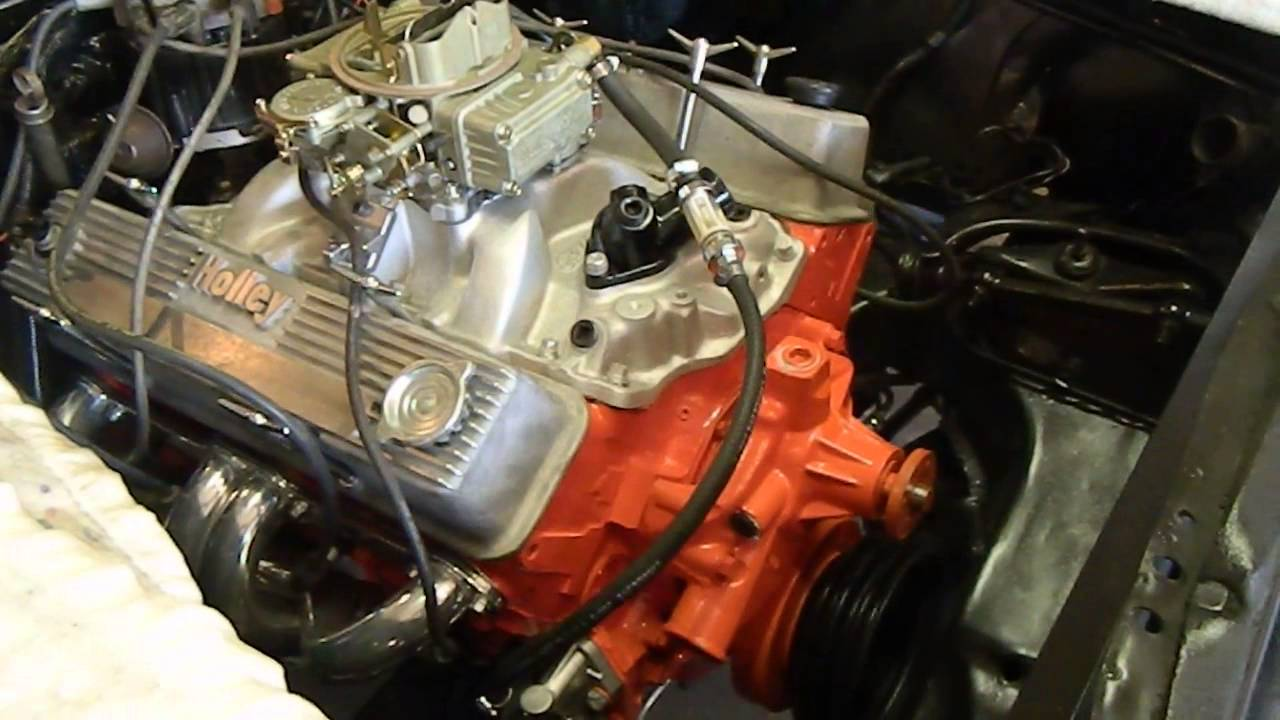 Joe's new atk performance chevy 350 V-8 5 7 liter crate engine 350 hp