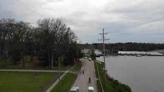 Sanford Michigan dam right before it failed May 19 2020