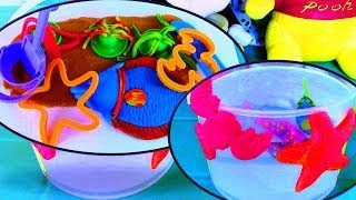 Play-Doh Beach Creations Bucket Playset and Robofish LED Fish - Play Doh Creations