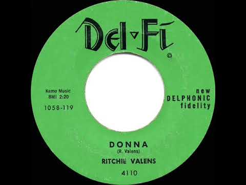1959 HITS ARCHIVE: Donna - Ritchie Valens (a #1 Record)