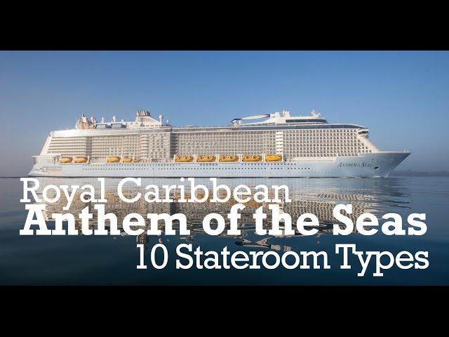 Royal Caribbean Anthem Of Seas 10 Stateroom Cabin Types Youtube