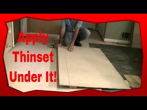 How to Install Hardie Board For Floor Tile - YouTube