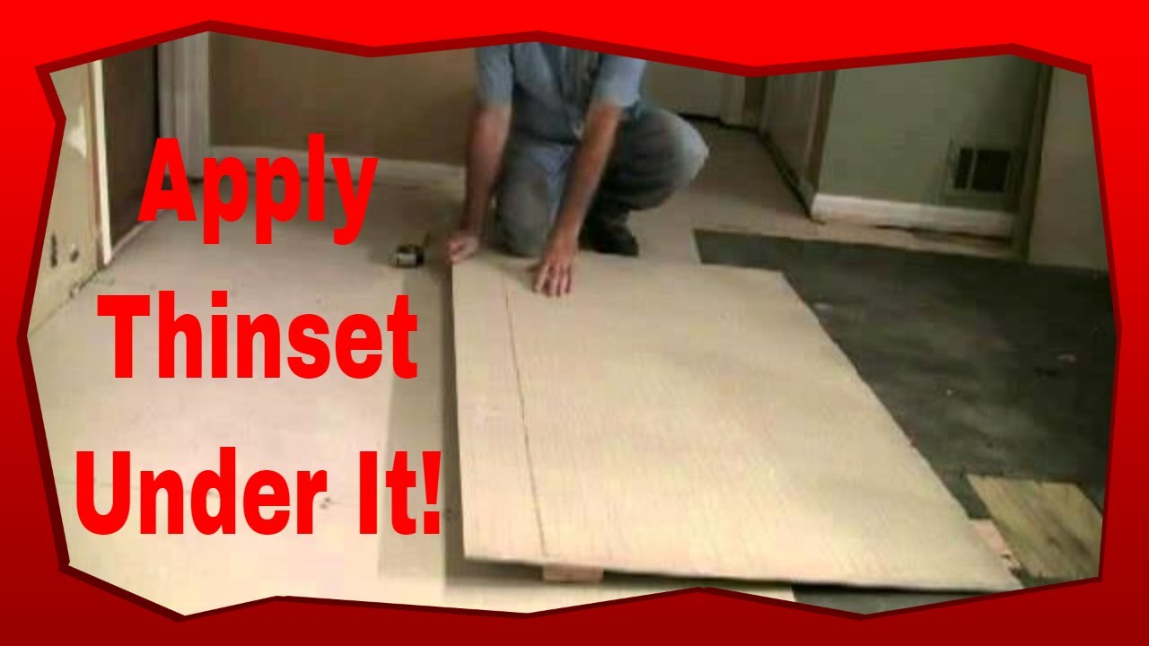 how to install hardie board for floor tile