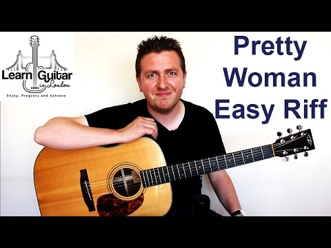 Pretty Woman - Roy Orbison - Easy Guitar Lesson - Riff + How To Use a Metronome   Drue James