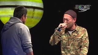YouTube動画:ふぁんく vs NAIKA MC / SPOTLIGHT 2018 MC BATTLE (2018年11月25日)