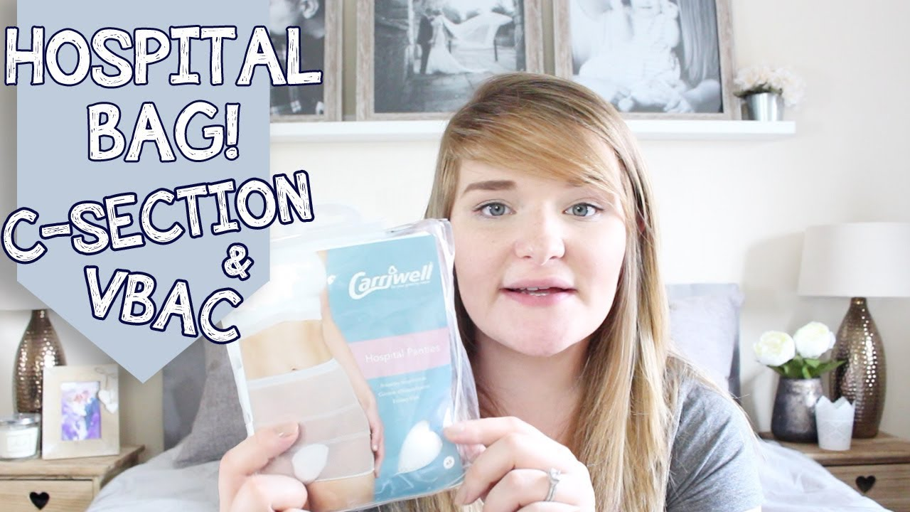 WHAT'S IN MY HOSPITAL BAG | VBAC & C-SECTION | 2ND BABY ...