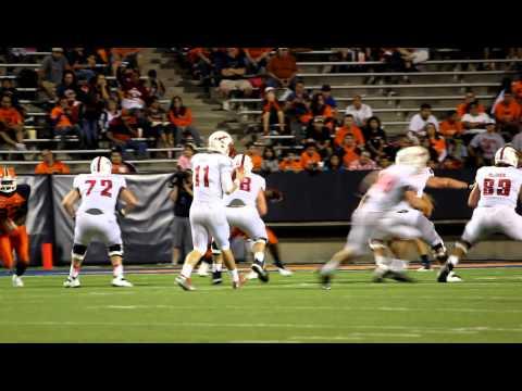 SMU Football. Garrett Gilbert Throwing Motion