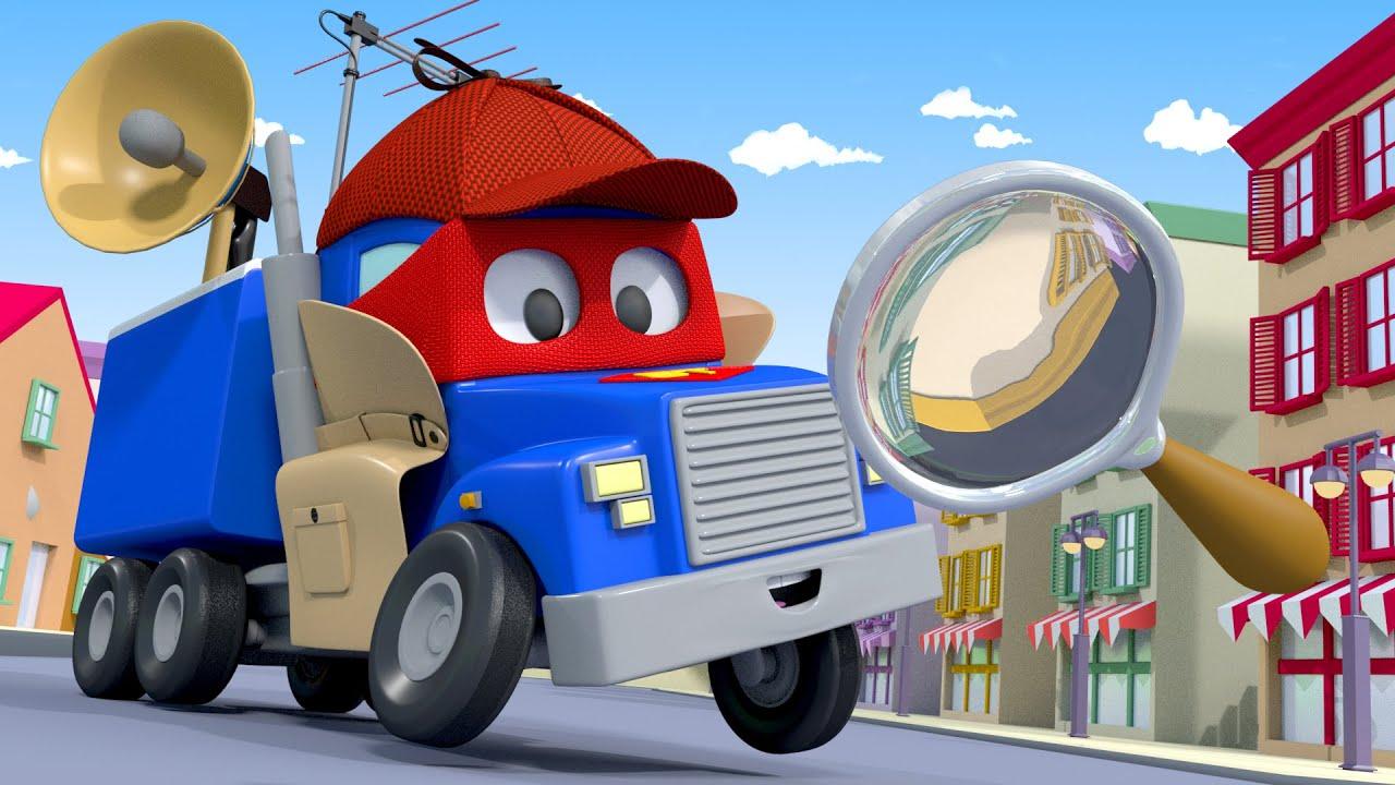 Xe tải THÁM TỬ phải tìm xe buýt Lily! – Siêu xe tải Carl 🚚⍟ những bộ phim hoạt hình về xe tải