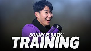 TRAINING | SONNY IS BACK! | Spurs prepare for Watford clash at Hotspur Way