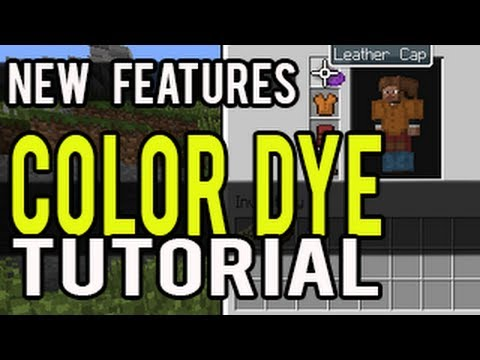 how to make dye in minecraft ps4