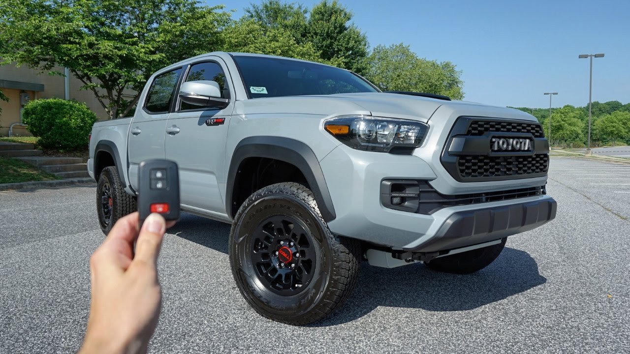 2017 toyota tacoma trd pro start up exhaust test drive crawl and review