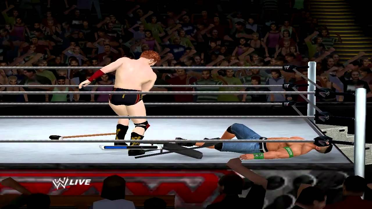WWE 13 PC Sheamus vs. John Cena Table Match - YouTube