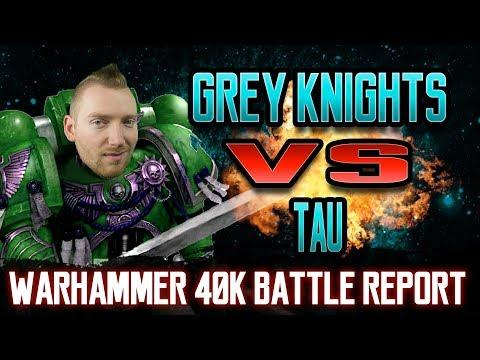 Tau vs Grey Knights Warhammer 40k 8th Edition Battle Report Ep 65