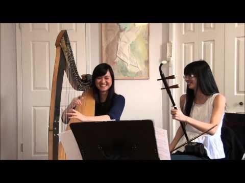 Kingdom Dance--Tangled (harp and erhu cover)