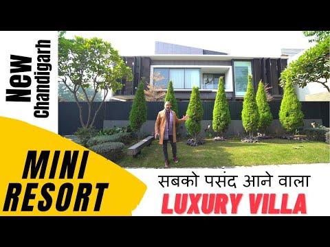Mini Resort Villa at New Chandigarh | Magnificent Interior | Park Facing Villa |  House Tour
