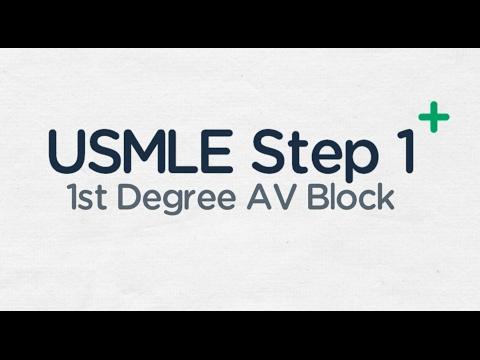 USMLE Step 1: First Degree Block