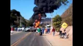 Carreta pega fogo na Br 267, reportagem exclusiva !
