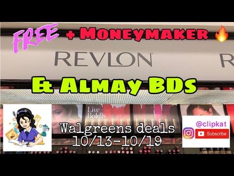 Moneymaker Revlon Deals! + Almay BDs!• Walgreens Couponing• Clipkat's BDs
