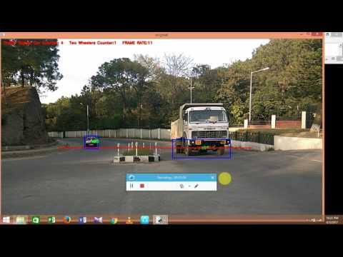 vehicle counting and classification using image processing by opencv python