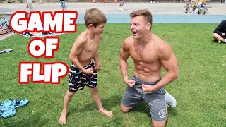 FLIPPING GAME VS AN 8 YEAR OLD!