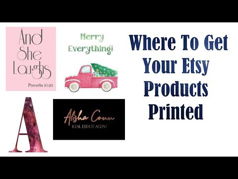 Where To Get Your Etsy Products Printed