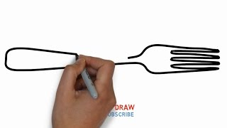 Easy Step For Kids How To Draw a Fork