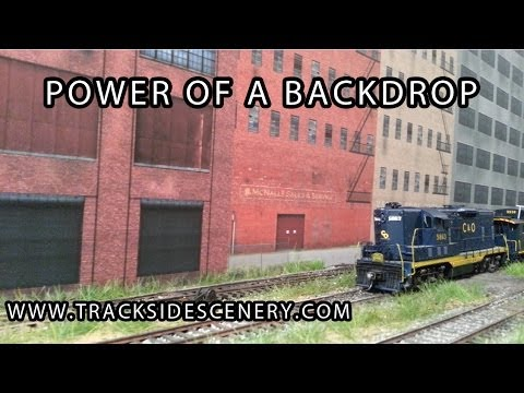"HO Scale ""Working"" Diorama – Showing the power of a model railroad backdrop!"