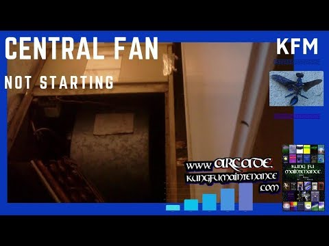 Indoor Central Fan Motor Buzzing Humming Not Starting Air Conditioner Heater Furnace Blower HVAC