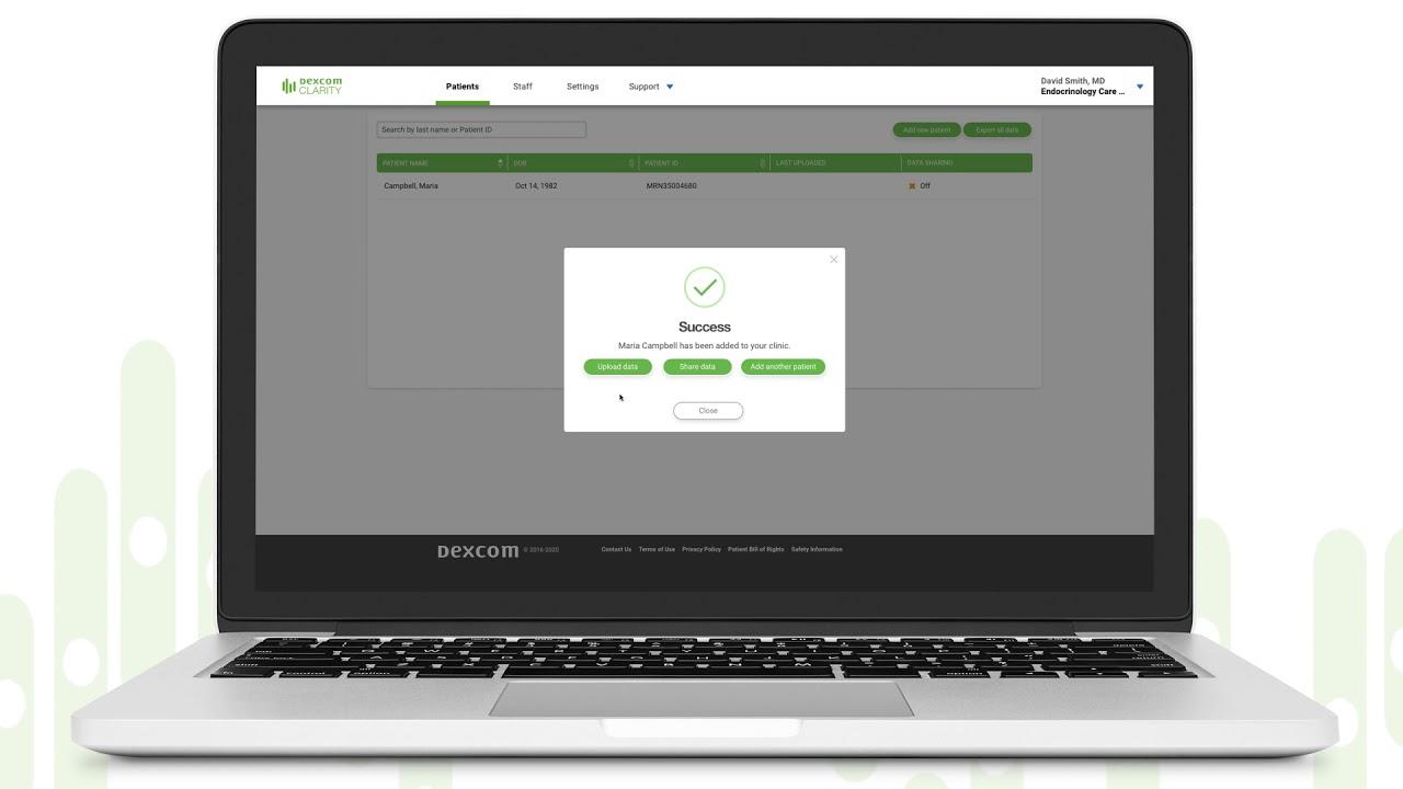 Dexcom CLARITY Data Sharing
