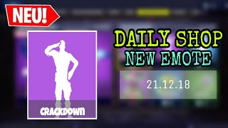 FORTNITE DAILY ITEM SHOP 21.12.18 | NEUES ROBOTER EMOTE!!