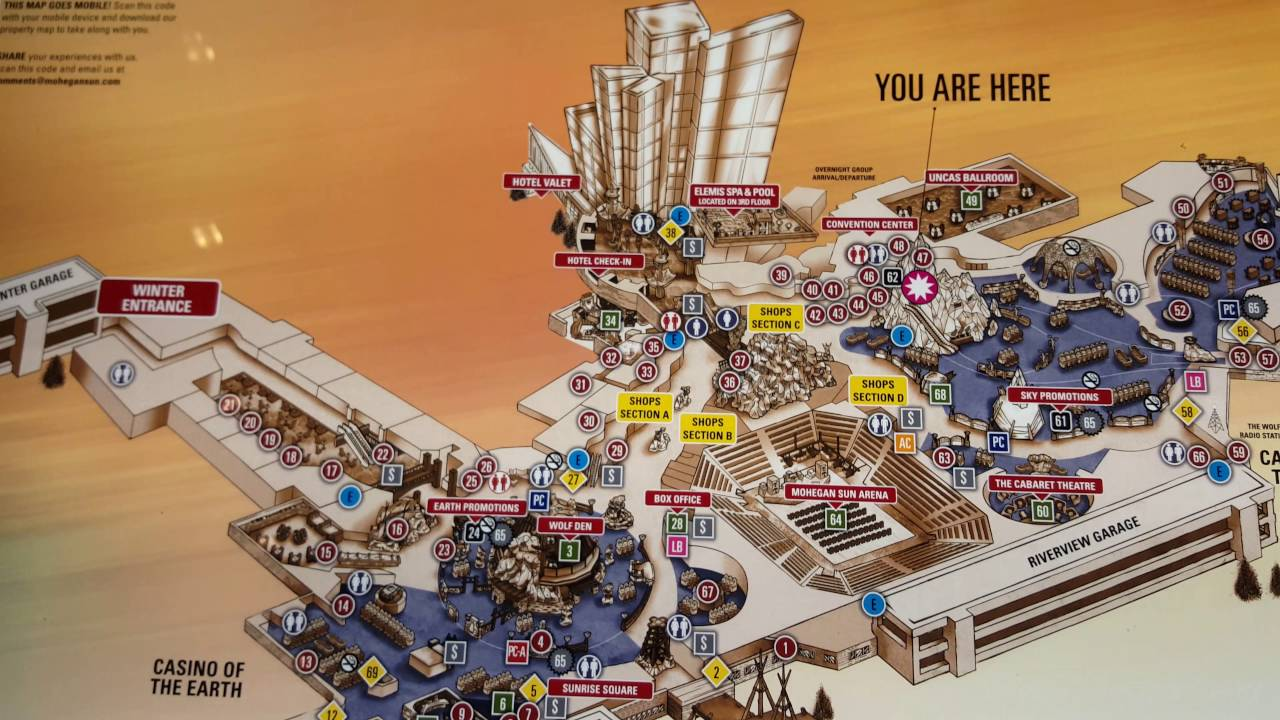 Connecticut Casinos Map